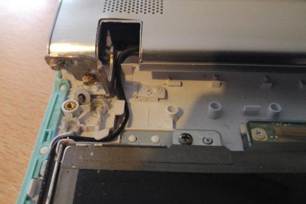 Sony Vaio afgebroken scharnier